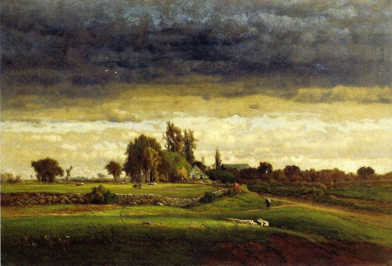 George Inness Landscape with Farmhouse